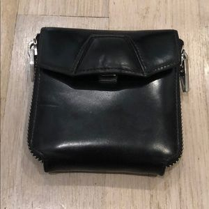 Alexander Wang Black Leather Zipped Wallet
